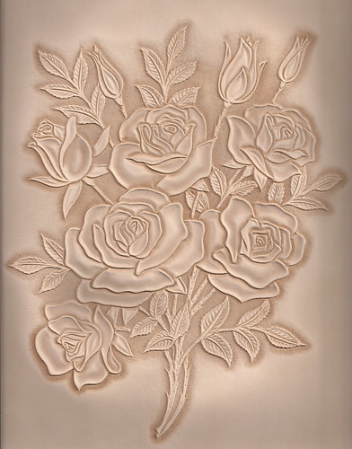 가죽공예;장미카빙(Leather craft Rose Carving)