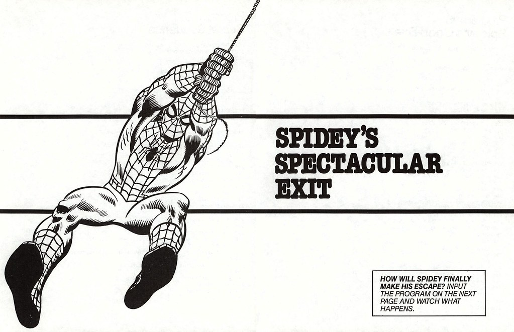 Spidey's spectacular exit