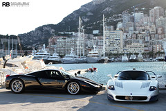 Only In Monaco #2 (Raphaël Belly Photography) Tags: blue white black paris ice car port de french photography eos hotel riviera photographie duo ferrari casino montecarlo monaco mc belly exotic 7d enzo passion carlo 12 monte raphael rb mc12 maserati spotting supercars combo v12 digue raphaël f60 hercule principality worldcars