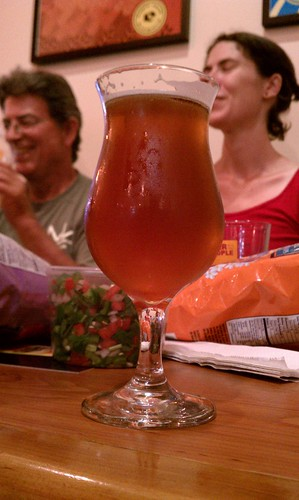 A tulip of Stimulus from Eagle Rock Brewery during the August 2011 Flying Pigeon LA Brewery Ride