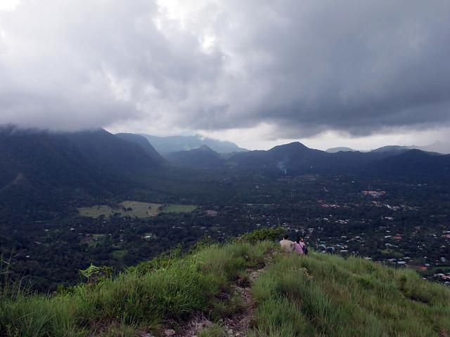 looking down to El Valle de Antón