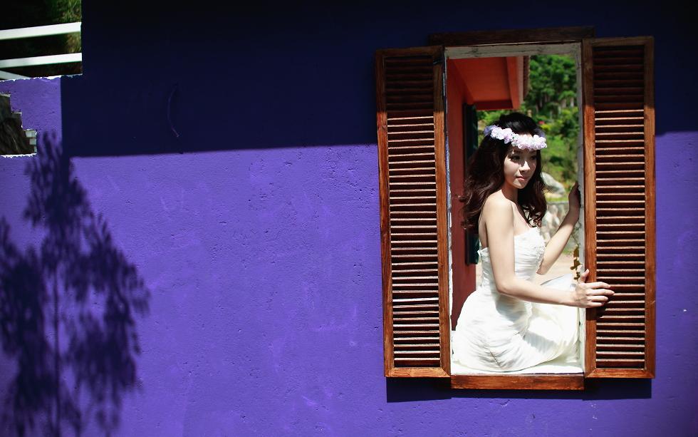 [婚紗樣本]愛情花漾婚紗寫真/巴莎魔法莊園