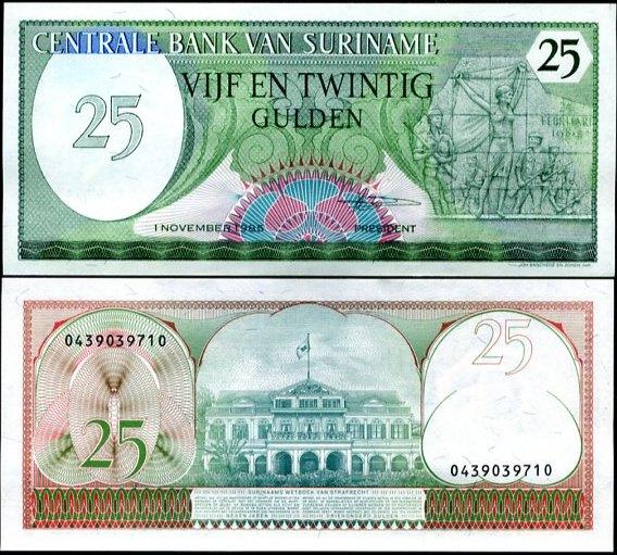 25 Guldenov Surinam 1985, Pick 127