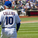Terry Collins takes a stroll to the plate