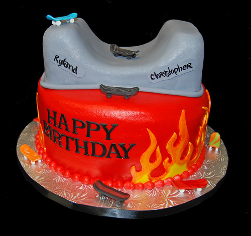 skateboard themed birthday cake
