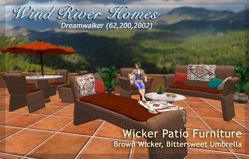 Brown Wicker Patio Furniture by Teal Freenote
