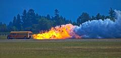 Jet Bus (gordeau) Tags: bus fire smoke flames jet fast airshow gordon schoolbus abbotsford ashby thechallengefactory gordeau