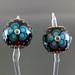 Earring Pair : Black Dot Line Flower Blossom