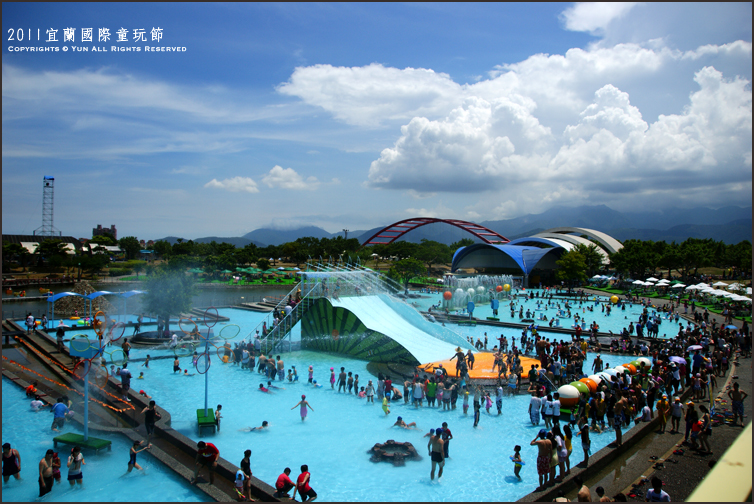 宜蘭旅遊︱2011宜蘭國際童玩節@戲水區~夏天就是要當個愛玩水的小孩