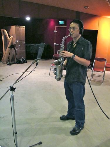 Fabian on sax