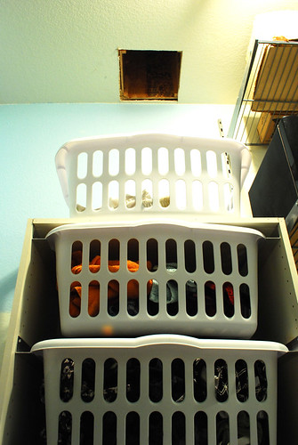 laundry chute (hole in the floor sort of)