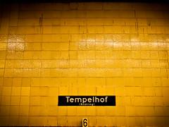 Tempelhof 6 (miemo) Tags: city travel summer berlin station sign wall germany subway typography europe metro text olympus tiles ubahn tempelhof ep1