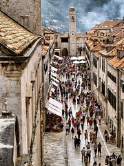 City of Dubrovnic Main Street (saxonfenken) Tags: street city roof people tower buildings geotagged superhero 102 thumbsup dubrovnic bigmomma challengeyouwinner a3b friendlychallenges thechallengefactory thechallengefactoryultimategrind yourockwinner herowinner ultraherowinner pregamesweepwinner gamesweepwinner fotocompetitionfotocompetitionbronze city102