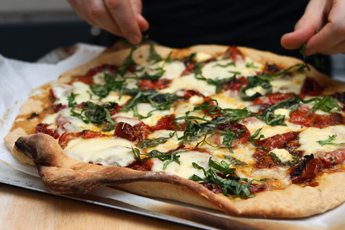 Tomato Basil Pizza - David Lebovitz