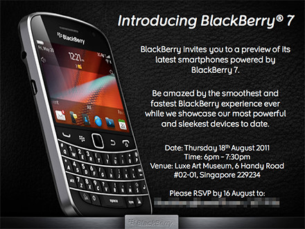 The three new BlackBerry 7 phones were launched in Singapore today.