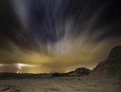 Tormenta en Bardenas IV (martin zalba) Tags: storm night stars landscape star noche paisaje estrellas tormenta estrella navarra bardenas