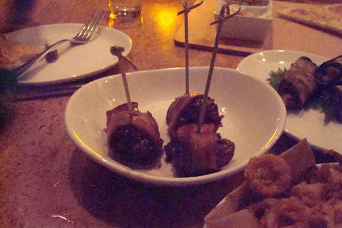 Spanish Stuffed Dates bacon wrapped & chorizo stuffed