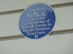 Photo of Thomas Gage blue plaque