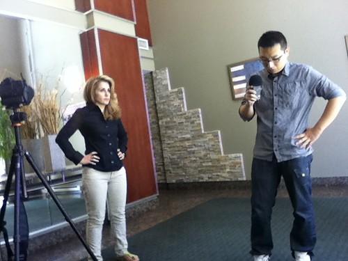 Filming 4 - Fakhteh & Shawn Testing Mic