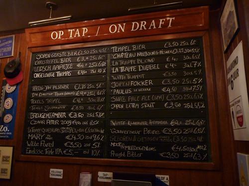 draft beer board at 't Arendsnest
