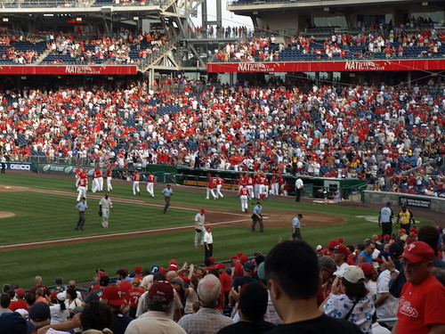 Nats win on HBP