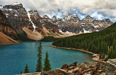 Moraine Lake - the Rockpile View (Jeff Clow) Tags: lake storm mountains nature weather landscape albertacanada banffnationalpark morainelake