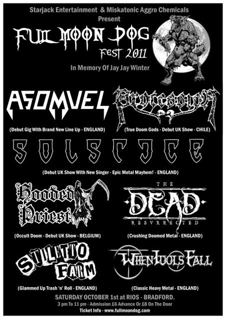full moon fest 2011 gig listings metal gigs