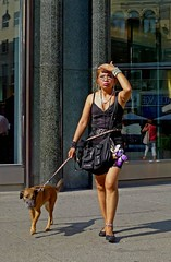a pic for Anders (try...error) Tags: vienna wien street camera leica woman dog sexy girl beautiful female naked walking pretty dress legs skin 5 streetphotography style hund streetphoto doggy dlux stylish dlux5