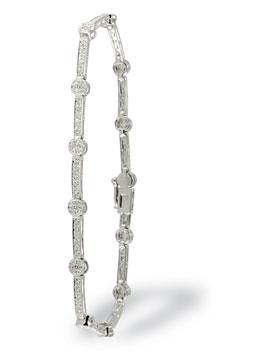 White Gold Milgrain Bracelet