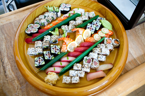 Chef Masaharu Morimoto's sushi platter