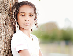Just Because... ({Arlene}) Tags: portrait tree girl kid eyes child curls tween curlyhair featherhairextensions