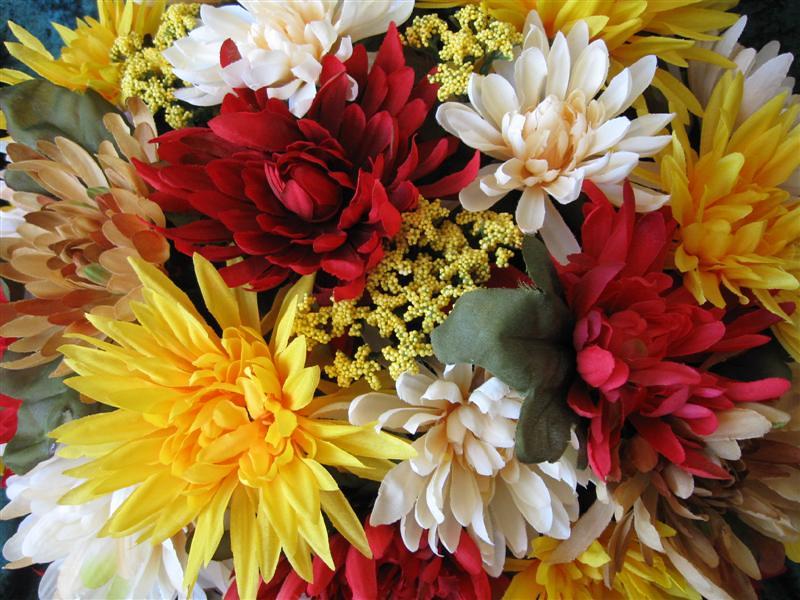 Harvest Centerpiece Arrangement Silk Flower Fall Chrysanthemum