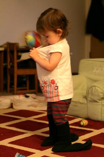 Tropical mousse, brownies, Katie's socks 021