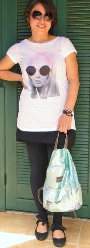 Camiseta e legging