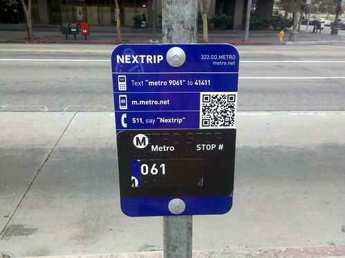 Metro QR Tag Real Time Bus signage