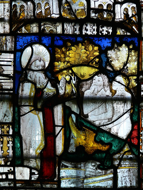 Rebuked by God, Medieval stained glass