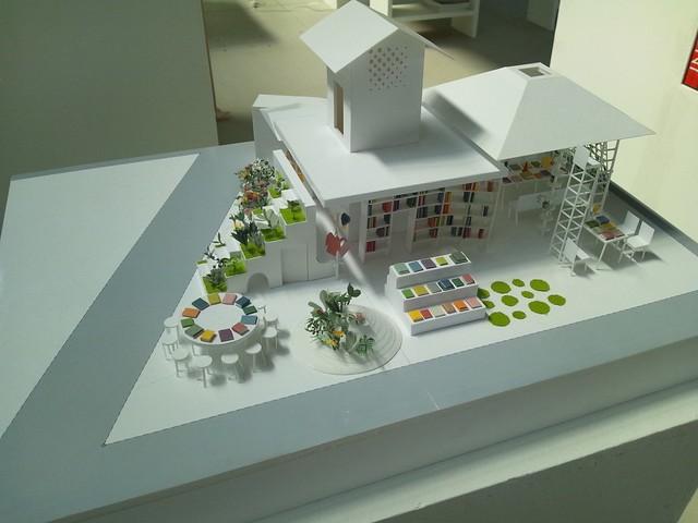 新・港村の本屋の模型-BankART LifeⅢの写真