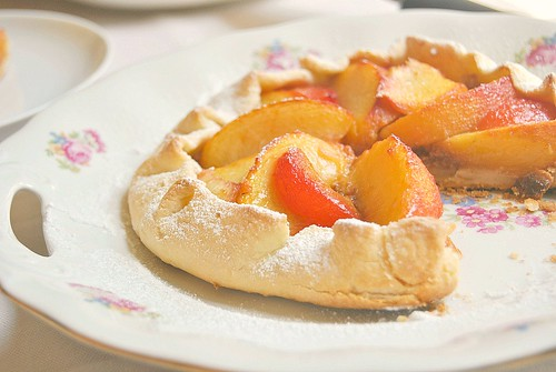 Peach and Amaretti Crostata