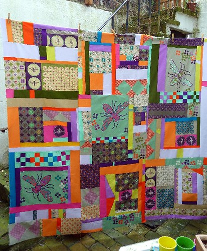 Ruby Star Spring Quilt Top Finish - Yay! by Sarah @ pingsandneedles