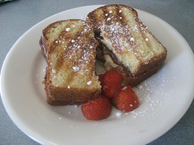 Nutella and Mascarpone Grilled Cheese