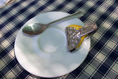 IMG_4370 (Mike Pechyonkin) Tags: table lemon spoon tablecloth saucer  2011