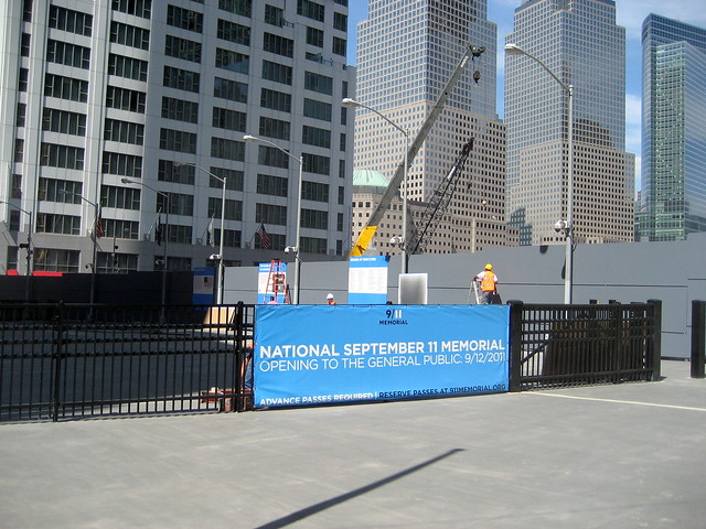 September 11th Memorial screening area