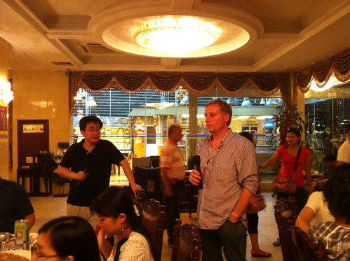 Giving a speech during dinner at the Spil Games Asia outing 2011 in Xiamen