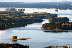 Lakeland Finland: view from Puijo to the Northern Lake Kallavesi (4) (J-P Korpi-Vartiainen) Tags: city autumn urban panorama lake tree fall tourism nature finland landscape town still october scenery europe downtown view traditional reserve peaceful aerialview calm aerial september ridge verdant suburb scandinavia fragile idyllic kuopio maisema attraction archipelago syksy valo keskusta saari northerneurope nordiccountries kaupunki saaristo ruska harju syyskuu lokakuu sedate ilmakuva matkailu jrvimaisema alue rauhallinen julkula perinteinen esikaupunki rehev pohjoissavo lakekallavesi valoisa idyllinen alkusyksy jpko