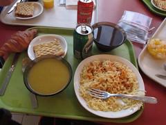 Sample control food--Fougeres (Lesli Larson) Tags: paris france sir pbp 2011 randonneuring 1200k parisbrestparis2011 parisbrestparispbp2011