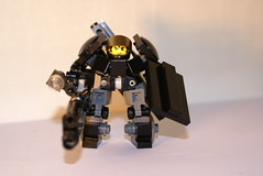 CHARON battle suit open visor (lordd3struct0r) Tags: canon marine lego space hard battle suit sniper scifi fi charon hs schi spacemarine hardsuit