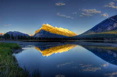 Mount Rundle Reflections (Meleah Reardon) Tags: park mountain canada reflection rockies canadian mount national banff rundle