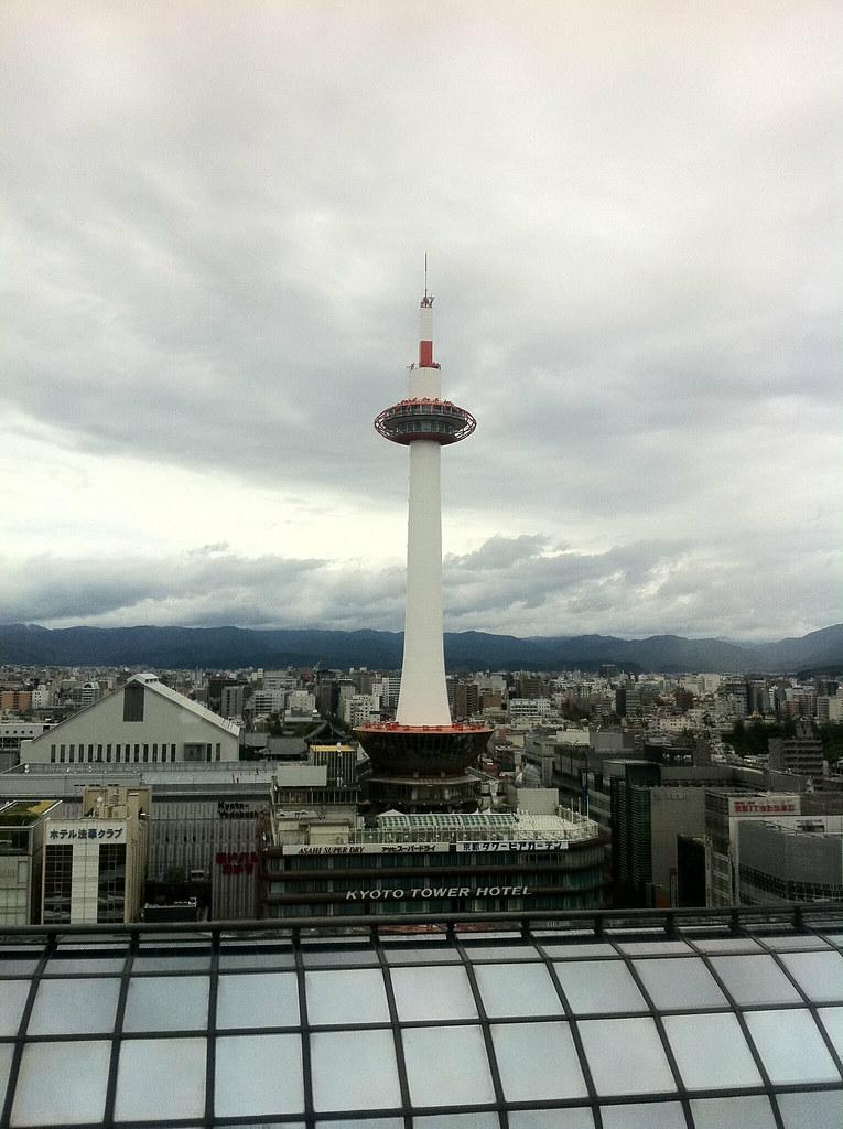 京都タワー 台風一過