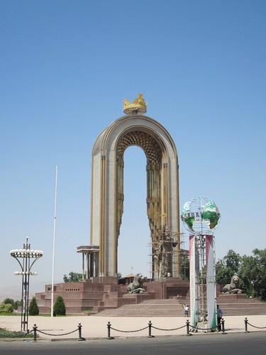 Duschanbe Alexander the Great memorial.