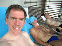 Paul, Jeff, and unknown man, relaxation area, Blue Lagoon, Iceland (Paul McClure DC) Tags: people iceland ísland reykjanes bluelagoon grindavík bláalónið paulmcclure aug2011